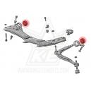 2x Silentblock de brazos delanteros BMW e46