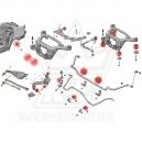 Juego CON tacos de motor y caja e46 (sólo 6 cilindros)